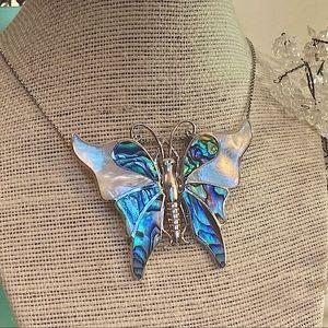 🦋Artisan Abalone & MOP Butterfly Pendant🦋